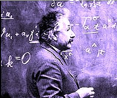 Image of Albert Einstein mixing up numbers in interesting new ways.