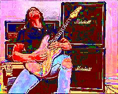 Image of Brev Sullivan of Shred Academy shredding scales on the guitar.