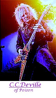 Image of C.C. Deville of Poison playing guitar.