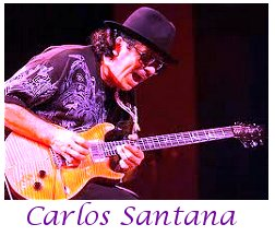 Image of Carlos Santana playing guitar.