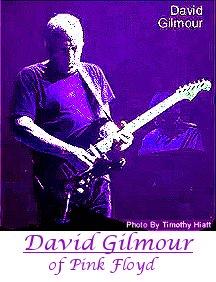 David Gilmour of Pink Floyd playing guitar.