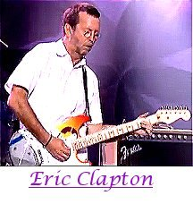 Image of Eric Clapton playing guitar.