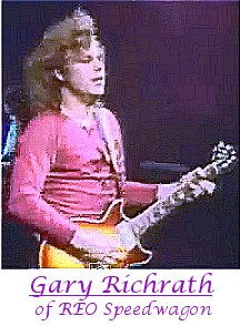 Image of Gary Richrath of REO Speedwagon playing guitar.