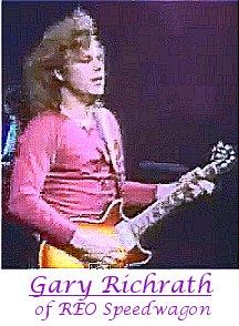 Image of Gary Richrath of REO Speedwagon playing guitar.