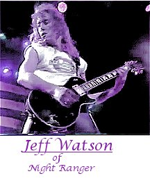 Jeff Watson of Night Ranger playing guitar.