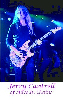 Image of Jerry Cantrell of Alice In Chains playing guitar.