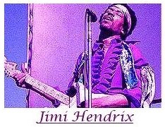 Image #1 of Jimi Hendrix playing guitar.