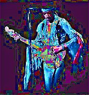 Image #3 of Jimi Hendrix playing guitar.