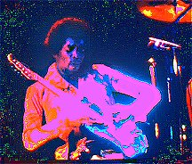 Image #2 of Jimi Hendrix playing guitar.
