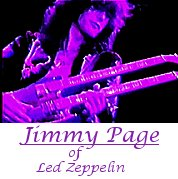 Image of Jimmy Page of Led Zeppelin playing guitar.