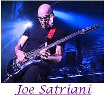 Image of Joe Satriani playing guitar.