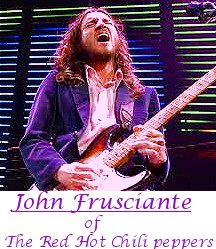 Image of John Frusciante of The Red Hot Chili Peppers playing guitar