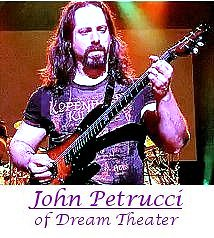 John Petrucci of Dream Theater playing guitar.