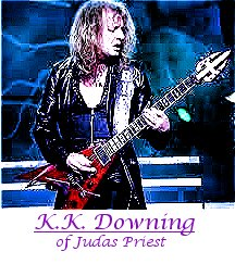 Image of K.K. Downing of Judas Priest playing guitar.