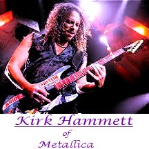 Image of Kirk Hammett of Metallica playing guitar.