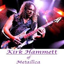 Image of Kirk Hammett of Metallica playing guitar.