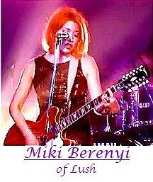 Image of Miki Berenyi of Lush playing guitar.