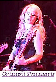 Image of Orianthi Panagaris playing guitar.