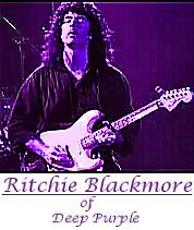 Image of Ritchie Blackmore of Deep Purple playing guitar.