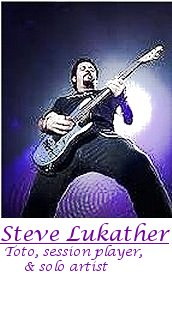 Image of Steve Lukather of Toto playing guitar.