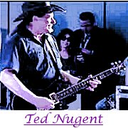 Image of ted nugent playing guitar.