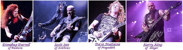 Thrash Metal guitar players.