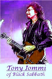 Image #2 of Tony Iommi of black Sabbath playing guitar.