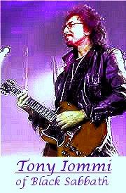 Image #2 of Tony Iommi of black Sabbath playing guitar.