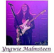Image of Ingwie Malmsteen playing Arpeggios on the guitar.