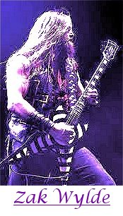 Image of Zak Wylde, guitarist for Ozzy Osbourne, playing guitar.